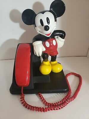 Vintage Disney Mickey Mouse Phone AT&T 1990's Push Button Tone Dial Telephone