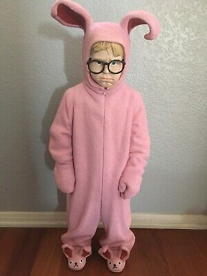 """Rare Signed 26"""" Ralphie In Pink Bunny Pjs Suit Christmas Story Statue](Ralphie In Pink Bunny Suit)"""