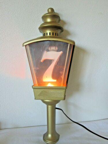 "Vintage Seagrams 7 Crown Light Wall Hanger ~ 17"" Tall ~ Claremound Plastics"