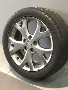 """MAZDA 3 SP23 17"""" GENUINE ALLOY WHEELS AND TYRES Carramar Fairfield Area Preview"""