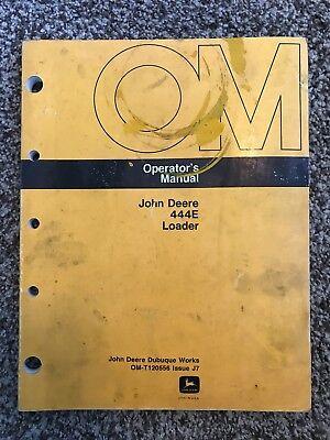 John Deere 444e Wheel Loader Owner Operator Maintenance Manual Omt120556