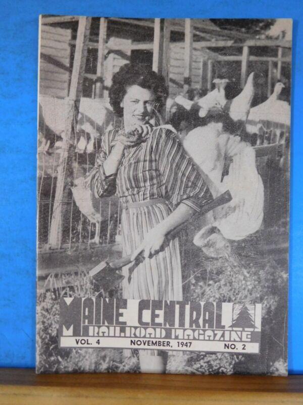 Maine Central Railroad Employees Magazine 1947 November