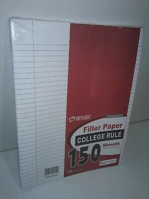 Top Flight Filler Paper 10.5 X 8 Inches College Rule 150 Sheets