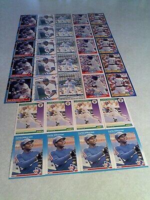 Curtis Wilkerson Lot Of 125 Cards.....42 DIFFERENT / Baseball - $29.75