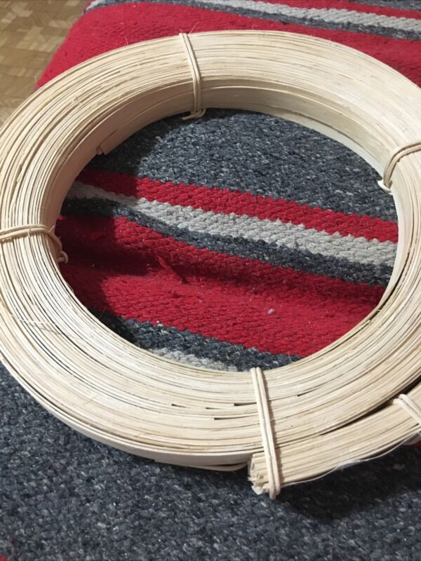 """Flat Reed Coil 1/2"""" Furniture and Basket Weaving. Approximately 1 Lb."""