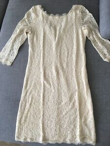 Aritzia - Babaton Cream lace dress size 8