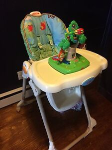 High chair with toys