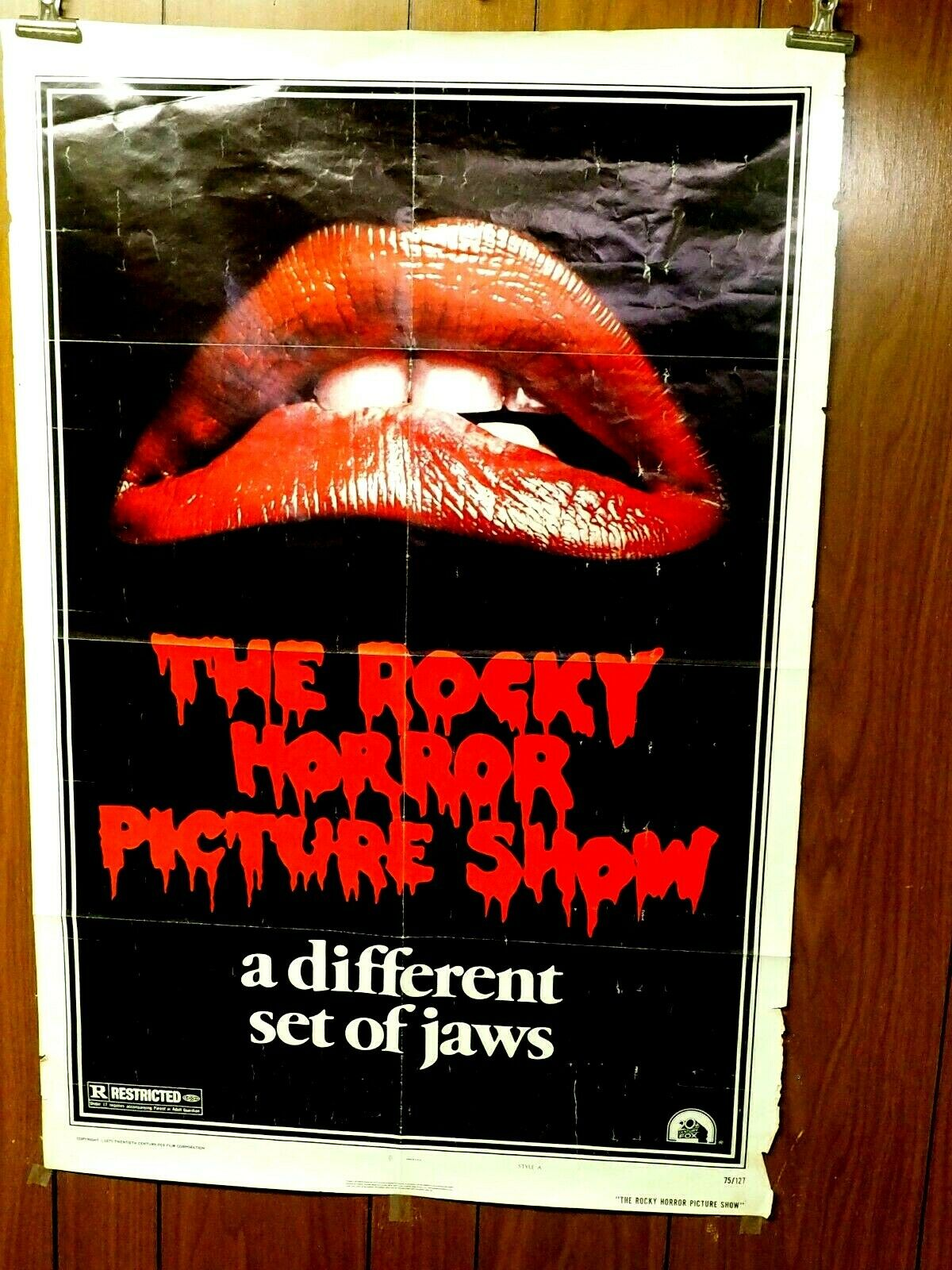 The Rocky Horror Picture Show 1975 Original Folded One Sheet Poster 27x41 - $195.00