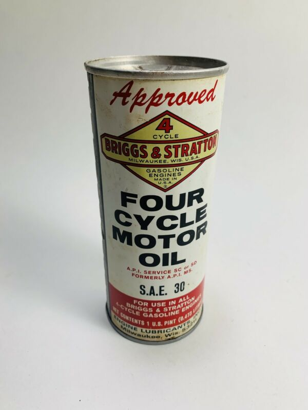 NOS Briggs & Stratton 4 Cycle Four Cycle Motor Oil 16 oz. Tin Metal Can Pint