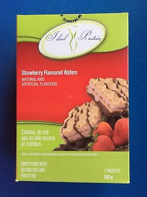 Ideal Protein Strawberry Flavoured Wafers - 7 Packets - EXP 10/31/20 - FREE SHIP