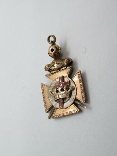 "Knights Templar Masonic Pendant Fob  ""In Hoc Signo Vinces"" Vintage (656E)"