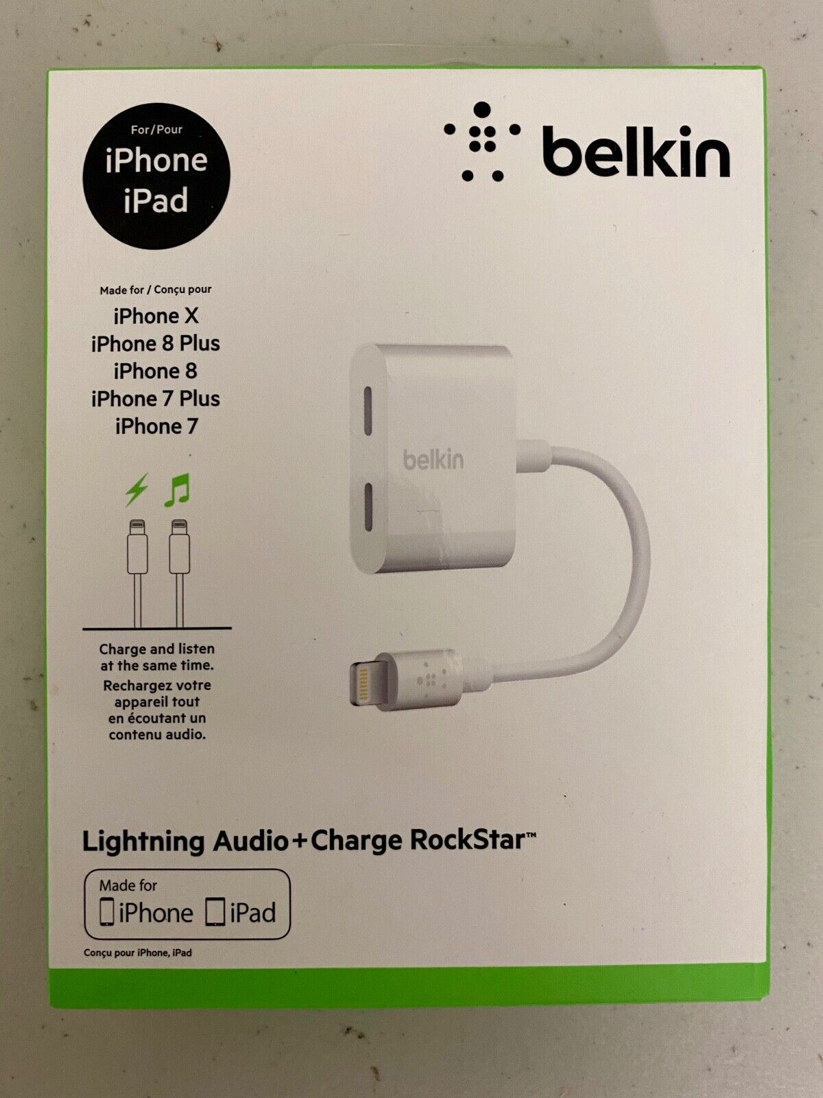 Belkin Lightning Audio ChargeRockstar Adapter for iPhone iPa