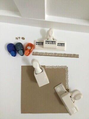 RARE LOT MARTHA STEWART EK PAPER CRAFT PUNCH HALLOWEEN  Fence, Web, Star,pumpkin](Halloween Pumpkin Paper Craft)