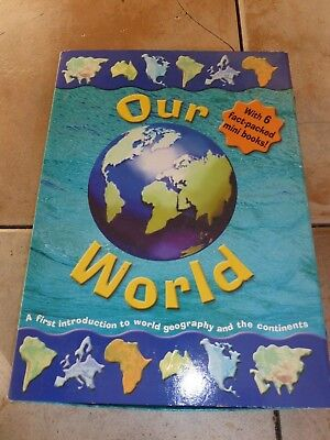 Our World - 6 Fact-Packed Mini Board Books - Continents of the World - Geography