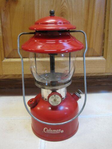 Vintage 1964 Red COLEMAN 200A Lantern SINGLE MANTLE