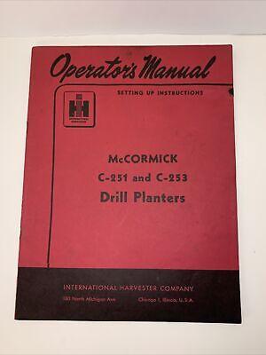 1953 Mccormick Drill Planter Operators Manual Vintage Euc