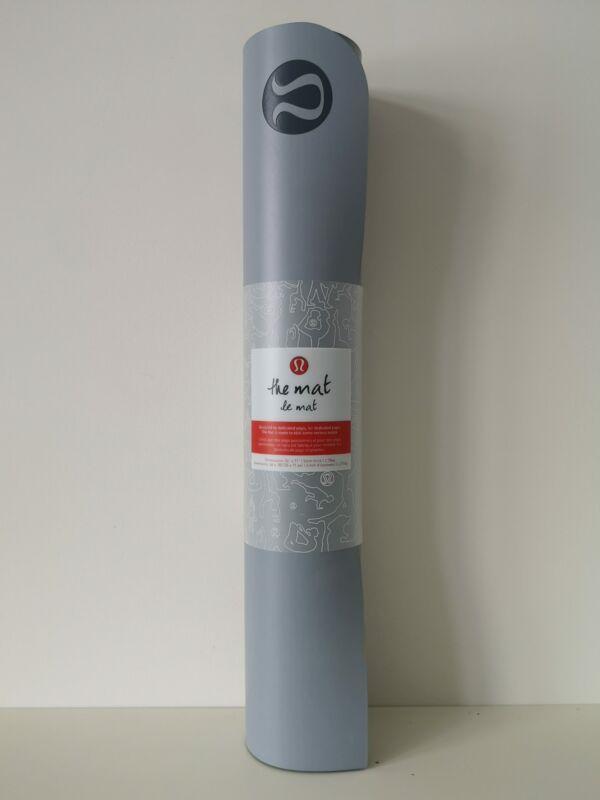 "NWT LULULEMON SILS/DCO Grey Yoga Mat 5mm, 71"" x 26"" Rare"