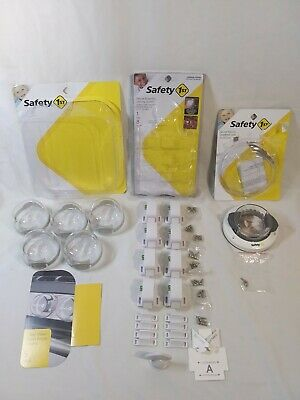 Safety 1st Lot Child Lock Safety Magnetic Cabinet Drawer Deadbolt & Stove Knob