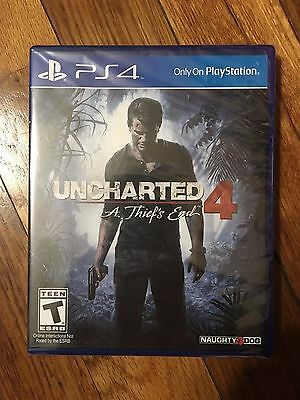 Uncharted 4: A Thief's End (Sony PlayStation 4, 2016) PS4 Brand New Sealed