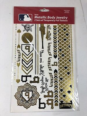 MLB Pittsburgh Pirates Metallic Body Jewelry Temporary Foil Tattoos](Pittsburgh Pirates Tattoos)