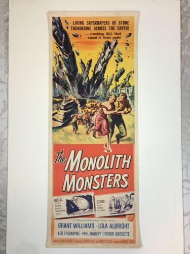 "MONOLITH MONSTERS (1957) Insert 14x36"" VG–FN Reynold Brown Artwork Free Shipping"