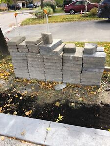 Free patio stones / pavers / interlocking bricks
