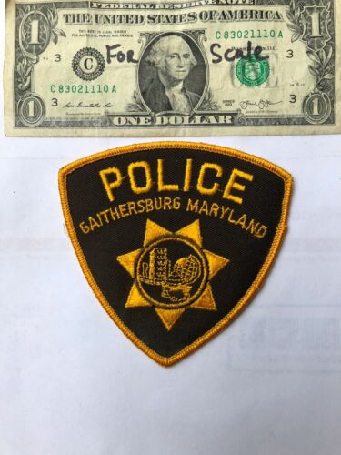Gaithersburg Maryland Police Patch un-sewn in Great shape