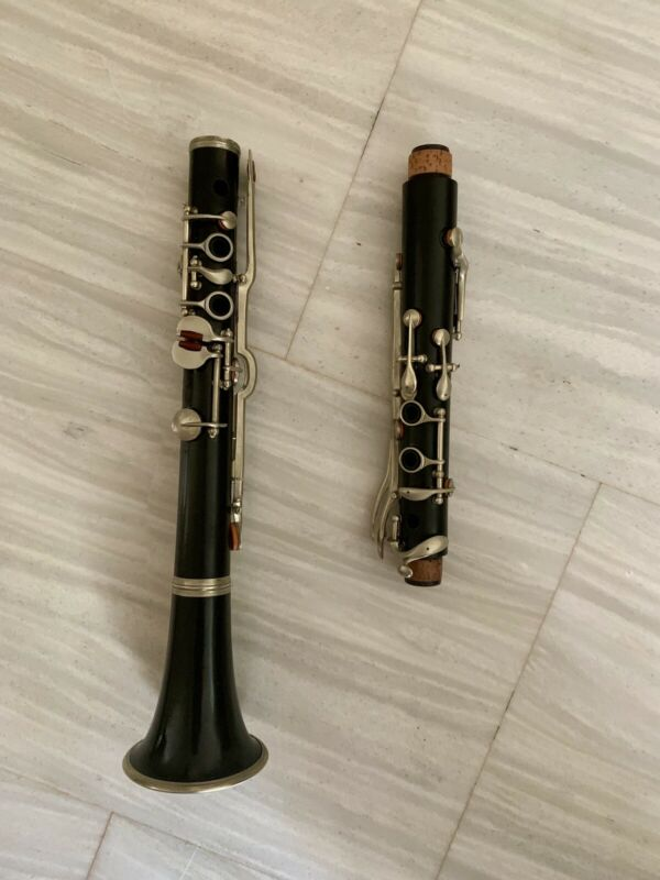 Old wooden A Clarinet. ALBERT System