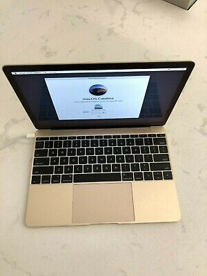 "Apple MacBook 12"" Laptop, 256GB - MNYK2LL/A - (June, 2017, Gold) Excellent Cond"