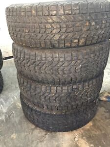 Four winter tires like new $100 195/70r14