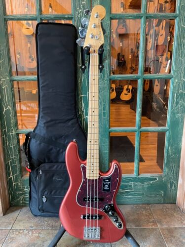 2021 Fender Player Plus Active/Passive Jazz Bass - Aged Candy Apple Red w/ Bag