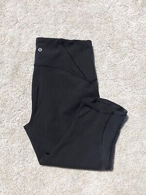 Lululemon Leggings Black Cropped Capri UK Size 14