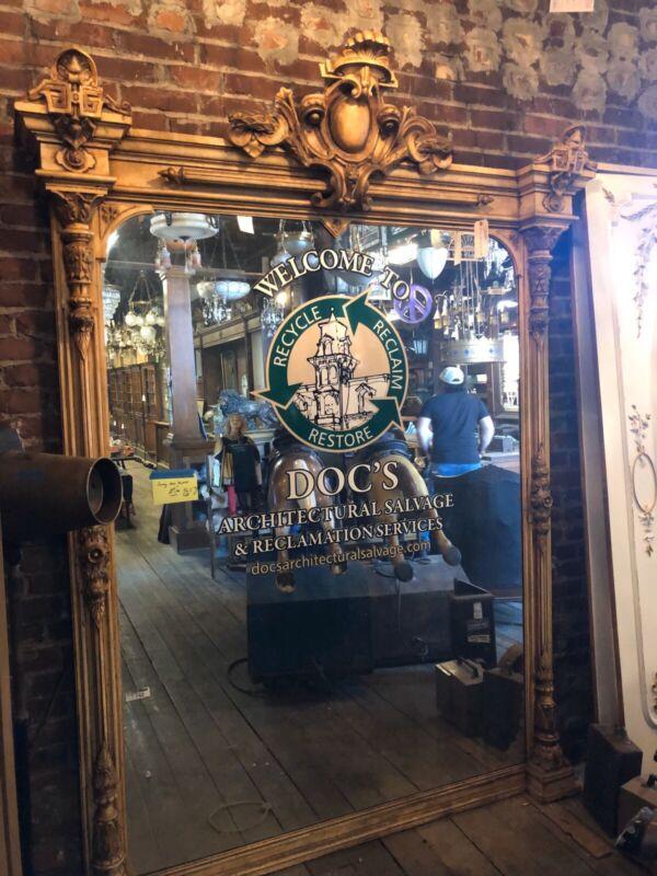 Antique Entry Pier Mirror Fancy Pier Mirror From Akron Estate