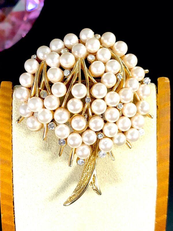 1960s Hobe pearl tree of life tremblant brooch