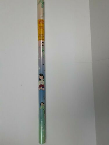 RARE. Disney Mulan Gift Wrapping Rolled Paper