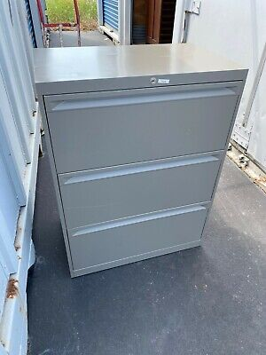 Used Commercial Lateral File Cabinets 3 Drawer With Key 30 Wide