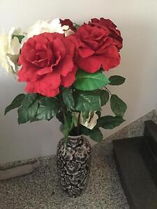 Large vase with large silk roses Condell Park Bankstown Area Preview
