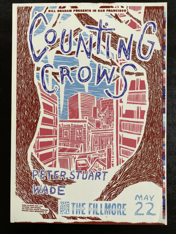 Counting Crows Poster Less Than 10 Made From Concert In 1994
