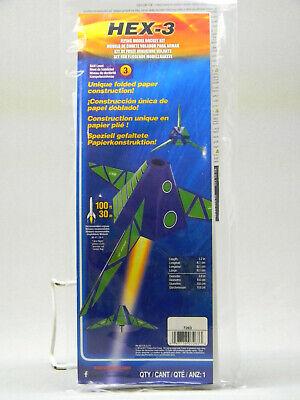 ESTES HEX-3 MODEL ROCKET KIT flight purple green body space skill 3 EST7263 NEW Flight Model Rocket