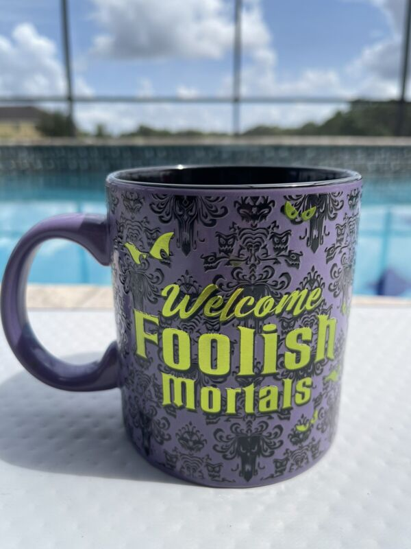 NEW. Disney Haunted Mansion Mug With Holographic Print.  IN HAND. READY TO SHIP