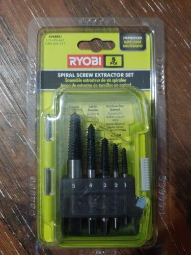 Ryobi 5pc Spiral Screw Extractor Set