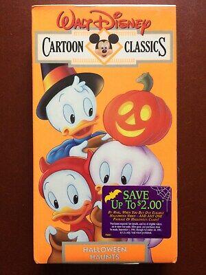"""""""WALT DISNEY IN HALLOWEEN HAUNTS""""CARTOON CLASSICS.SEALED.VHS .25 MINUTES.COLOR"""