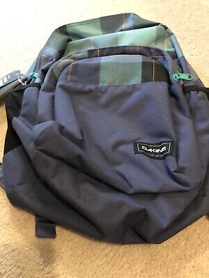c123302f9 Dakine Ohana 26L Backpack Bookbag Blue Plaid Aquamarine