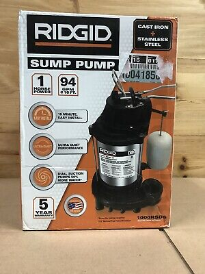 Ridgid 1000rsds Stainless Steel Dual Suction Sump Pump Brand New