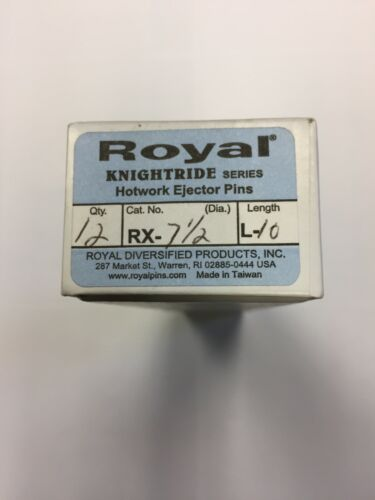 Royal RX-7-1/2-L10 RX KNIGHTRIDE SERIES H-13 Hotwork Ejector Pins (BOX OF 12)