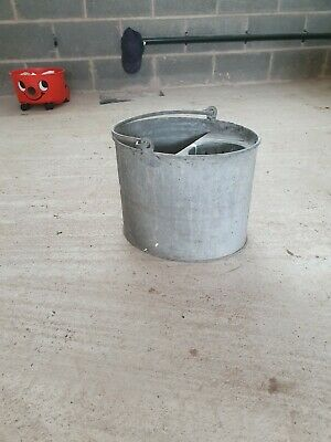 Galvanised Mop Bucket / Garden Planter Beautiful Vintage Original