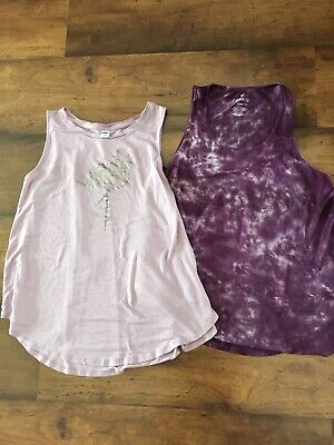 American Eagle Outfitters Aeo Old Navy Tank Top Lot Of 2 Purple Flamingo Tie Dye Old Navy Outfitters