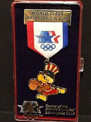 OLYMPIC 1984 BASKETBALL World Class Player PIN Bird Los Angeles NEW In Case LA