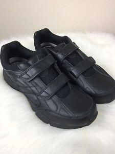 Dr Scholl's leather men's work shoe's Size 13 Black with Velcro Straps