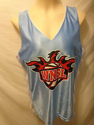 WNSL Women's Basketball Jersey Small Light Blue & White Reverisble Made in USA